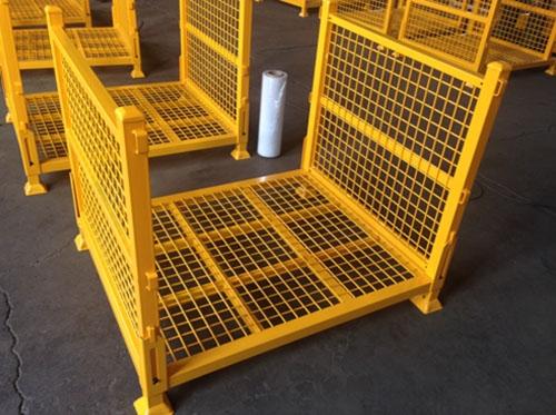 青岛喷粉折叠方管笼